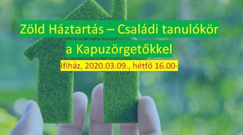 Családi tanulókör a Kapuzörgetőkkel – zöld háztartás vezetése