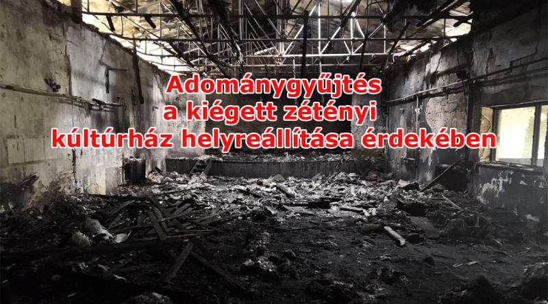 A kiégett zétényi kultúrház